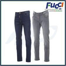 Pantaloni da Lavoro Jeans Uomo Blu Denim Elasticizzati Multitasche Payper