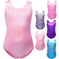 Little Girls Gymnastics Sparkly Leotards Shiny Sport Ballet Dancewear Tank
