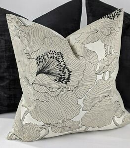 John Lewis Atulya Flower Fabric Cushion Cover An Elegant  Floral weave. Natural