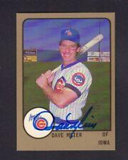 Dave Meier 1988 Iowa Cubs Autographed Signed w/COA jh55