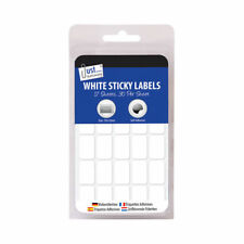 White Sticky Labels School Stationery College Small Squares Supplies Pages