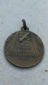 Italian fascist medal opera nazionale balilla onb Firenze Gherardesca ww2 war