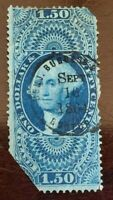 US Revenue Stamp Collection Scott # R78c - Used