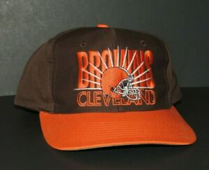 Cleveland Browns Team NFL One Size Fits All Brown / Orange Football Snapback Hat