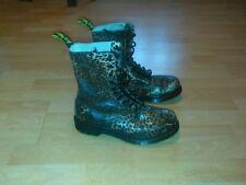 Leopard print doc martens dr Martins boots marten martin size 7 - 8 uk 41- 42 eu