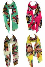 Chiffon Floral Stole Scarves & Shawls for Women