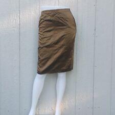 Rene Lezard Brown 2-Split Pencil Skirt Size 4