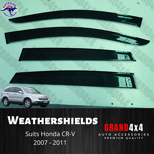 Weathershields Window Visors Tinted to suit Honda CR-V CRV 2007 - 2011