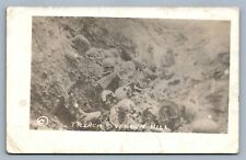 VERDUN WWI TRENCH AFTER BATTLE ANTIQUE REAL PHOTO POSTCARD RPPC SKULS BONES