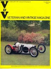 VETERAN & VINTAGE Magazine, February 1971 (Vol 15, No 6). Free UK Postage