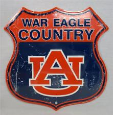 War Eagle Country AU Novelty Route Badge Shield Sign Distressed Look Game Auburn