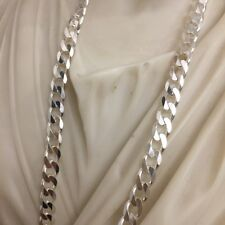 Chain Necklace 6.5mm 20 Inch 39Gr Handmade 925 Solid Silver Men Cuban Curb Link