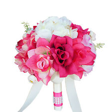 """8"""" Bouquet - Peony and Rose Bouquet; Shades of Pink and Ivory"""