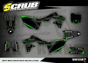 Graphics KX250f 2013 2014 2015 2016 Kawasaki SCRUB decals KXf 250