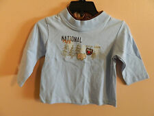"NWT Kids Play boys lite blue t-shirt w/""National Park"" & bear in the woods; 6-9m"