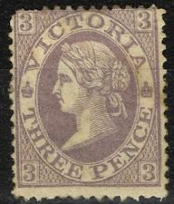 Mint Hinged Victoria Single Australian Stamps