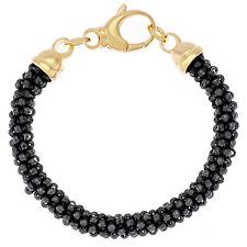 """Bronzo Italia Yellow Bronze 60.00 cttw Hematite Bead 6-3/4"""" Bracelet QVC $79"""