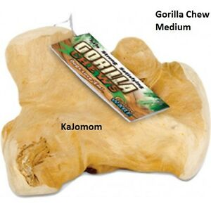 GORILLA CHEWS Dog MEDIUM Bone JAVA Wood Treat GENUINE Dental Harder Than Antler