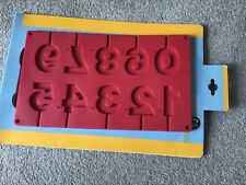 M&S HOME SILICONE 3D NUMBERS MOULD SET