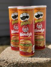 NEW PRINGLES WENDY'S SPICY CHICKEN POTATO CRISPS LIMITED EDITION FLAVOR (3) CANS