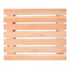 Pedana per piatti da doccia antiscivolo 55x68cm con doghe assi in legno larice