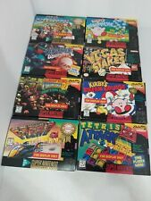 """8 Official Nintendo SNES  """" For Display Only """" Boxes  Donkey Kong Mario Kart"""