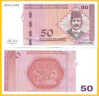 Bosnia-Herzegovina 50 Maraka p-84 2019 UNC Banknote