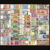 World 50 PCS Uncirculated Banknotes Set 28 Different Countries Genuine Lot UNC