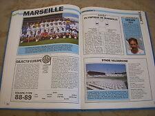 FOOTBALL COUPURE LIVRE PHOTO MRBT30 20x10 D1 OLYMPIQUE MARSEILLE 88/89