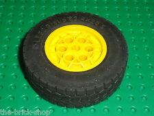 Roue LEGO Yellow Wheel 62.4 x 20 ref 86652 + tyre 32019 / 8262 Hauler