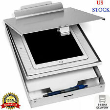 Aluminum Metal Clipboard Case Folder With Storage Contractor RN Nurse Coach Work