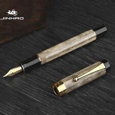Gray Jinhao 100 Centennial Resin Fountain Pen Ef/F/M Bent Nib Writing Gift Pen