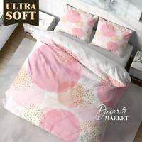 Lipstick Polka Dots Texture Patterns Pink Duvet Cover Set Zipper Pillow Cover