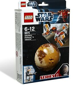 LEGO 9675 Star Wars Sebulba's Podracer & Tatooine Planet Series 1 *creased box