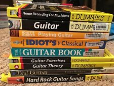 9 Guitar Instruction Books Guitar For Dummies, Playing Guitar And More! Look!