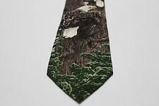 THE NESTING CALL - ROD FREDERICK - ENDANGERED SPECIES RETRO 1996 SILK NECK TIE!