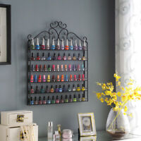 6 TIERS Nail Polish Display Wall Rack Metal Organizer Holder Up To 120 Bottles