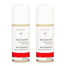 2 PCS Dr. Hauschka Rose Deodorant New Packing 50ml Antiperspirant Scent #17003_2