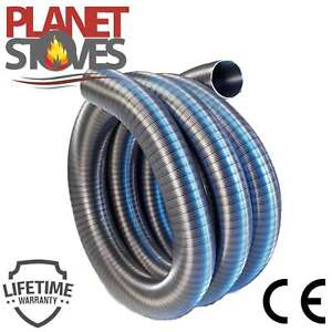 Flexible Stainless Steel Flue Chimney Liner For Woodburning Stoves / Solid Fuel