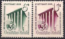 Germany 3rd Reich Mi# 692-693 MH stuttgart Horticultural Exhibition 1939 *