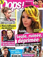 OOPS! N°159 4 AVRIL 2014  NABILLA/ THE VOICE/ CHAUVIN/ KUNIS/ EFRON/ DELEVINGNE