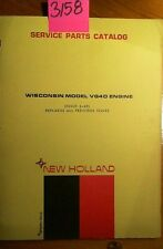 New Holland Wisconsin VG4D Engine Service Parts Catalog Manual 6/69