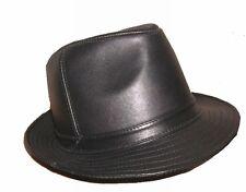 Men's 100% Real Leather Black/brown/gray Top Hat gentleman cap
