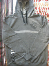 "NEW MEN'S ECKO CHARCOAL GREY HOODED SWEATSHIRT HOODIE 40-42"" SIZE LARGE BNWT"