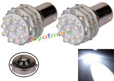 2X BA15S 1156 36 LED Pure White Car Tail Brake Indicator Light lamp Bulb 12V New