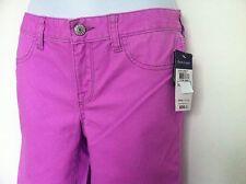 Ralph Lauren Girls Solid Aubrie Leggings Jean Look Violet Neon Size 12 NWT