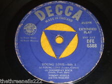 "VINYL 7"" SINGLE - TOMMY STEELE - YOUNG LOVE - DFE 6388"