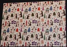 Dobra Lystivka Art Postcard - Penguins by Zhanna Mendel