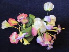 "Vtg Millinery Flower Collection Pastel Pink Purple w/Sweet Peas 2"" German H3061"