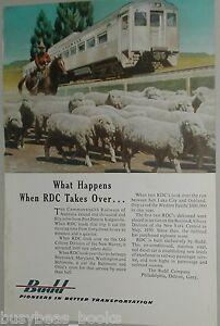 1953 BUDD COMPANY advertisement, RDC-1 Commonwealth Railway of Australia, sheep